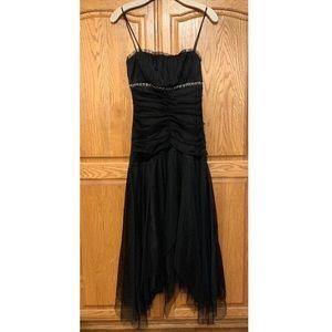 Teeze Me Black Formal Dress Gown Asymmetrical